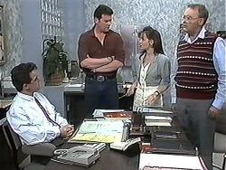 Paul Robinson, Des Clarke, Caroline Alessi, Harold Bishop in Neighbours Episode 1213
