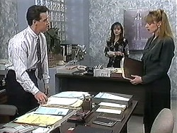 Paul Robinson, Caroline Alessi, Melanie Pearson in Neighbours Episode 1213