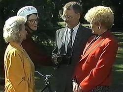 Helen Daniels, Dorothy Burke, Harold Bishop, Madge Bishop in Neighbours Episode 1213