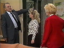 Harold Bishop, Sharon Davies, Madge Bishop in Neighbours Episode 1214