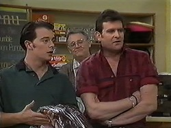 Matt Robinson, Harold Bishop, Des Clarke in Neighbours Episode 1214