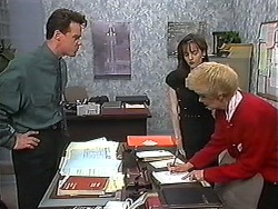 Paul Robinson, Caroline Alessi, Madge Bishop in Neighbours Episode 1214