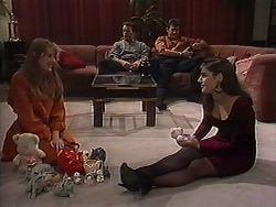 Melanie Pearson, Matt Robinson, Des Clarke, Candice Hopkins in Neighbours Episode 1215