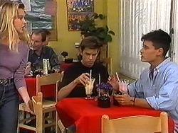 Melissa Jarrett, Todd Landers, Josh Anderson in Neighbours Episode 1215