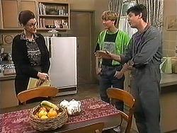 Dorothy Burke, Ryan McLachlan, Joe Mangel in Neighbours Episode 1215