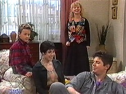 Toby Mangel, Kerry Bishop, Sharon Davies, Joe Mangel in Neighbours Episode 1216
