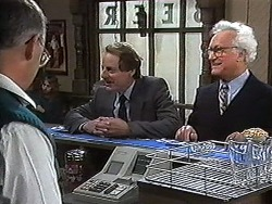 Harold Bishop, Councillor Jones, Councillor Adams in Neighbours Episode 1216