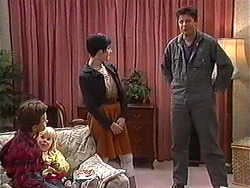 Toby Mangel, Sky Mangel, Kerry Bishop, Joe Mangel in Neighbours Episode 1216