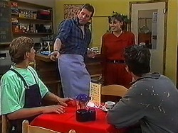 Ryan McLachlan, Des Clarke, Candice Hopkins, Matt Robinson in Neighbours Episode 1217