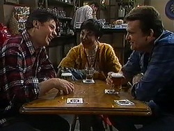 Joe Mangel, Kerry Bishop, Des Clarke in Neighbours Episode 1217
