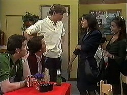 Des Clarke, Matt Robinson, Ryan McLachlan, Candice Hopkins, Christina Alessi in Neighbours Episode 1218