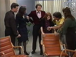 Paul Robinson, Caroline Alessi, Matt Robinson, Jenny Arnel, Phillip Arnel, Christina Alessi in Neighbours Episode 1218