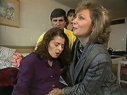 Jenny Arnel, Phillip Arnel, Christina Alessi, Beverly Robinson in Neighbours Episode 1218