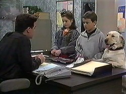 Paul Robinson, Lochy McLachlan, Toby Mangel, Bouncer in Neighbours Episode 1218