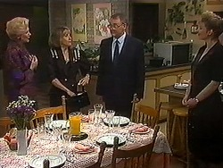 Madge Bishop, Felicity Brent, Harold Bishop, Beverly Robinson in Neighbours Episode 1220