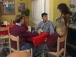 Todd Landers, Josh Anderson, Melissa Jarrett, Christina Alessi in Neighbours Episode 1221