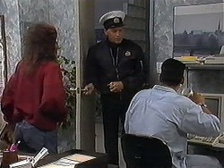 Christina Alessi, Ken, Josh Anderson in Neighbours Episode 1221
