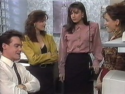 Paul Robinson, Caroline Alessi, Candice Hopkins, Christina Alessi in Neighbours Episode 1222