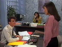 Paul Robinson, Caroline Alessi, Candice Hopkins in Neighbours Episode 1223