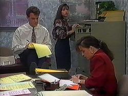 Paul Robinson, Candice Hopkins, Caroline Alessi in Neighbours Episode 1223
