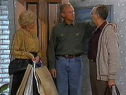 Madge Bishop, Jim Robinson, Harold Bishop in Neighbours Episode 1225
