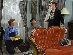 Ryan McLachlan, Joe Mangel, Dorothy Burke in Neighbours Episode 1225
