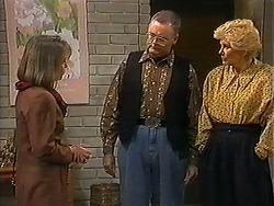 Felicity Brent, Harold Bishop, Madge Bishop in Neighbours Episode 1225