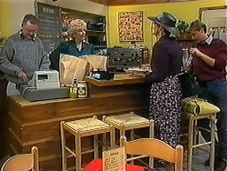 Harold Bishop, Madge Bishop, Dorothy Burke, Ryan McLachlan in Neighbours Episode 1225