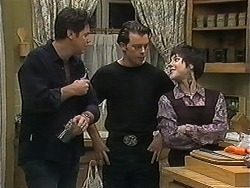 Joe Mangel, Matt Robinson, Kerry Bishop in Neighbours Episode 1227