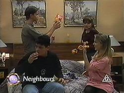 Todd Landers, Josh Anderson, Cody Willis, Melissa Jarrett in Neighbours Episode 1227
