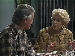 Clarrie McLachlan, Madge Bishop in Neighbours Episode 1227