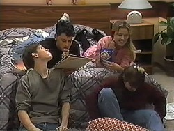 Todd Landers, Josh Anderson, Melissa Jarrett, Cody Willis in Neighbours Episode 1227