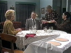 Madge Bishop, Harold Bishop, Clarrie McLachlan, Dorothy Burke in Neighbours Episode 1227