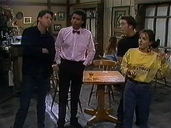 Joe Mangel, Eddie Buckingham, Matt Robinson, Christina Alessi in Neighbours Episode 1228