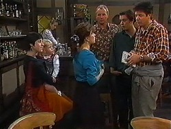Kerry Bishop, Sky Mangel, Christina Alessi, Jim Robinson, Matt Robinson, Joe Mangel in Neighbours Episode 1228