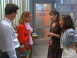 Paul Robinson, Melanie Pearson, Candice Hopkins, Caroline Alessi in Neighbours Episode 1229
