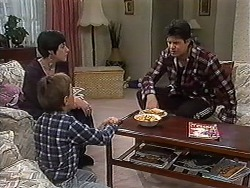 Kerry Bishop, Toby Mangel, Joe Mangel in Neighbours Episode 1230