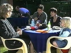 Beverly Robinson, Joe Mangel, Kerry Bishop, Sky Bishop in Neighbours Episode 1230
