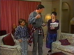 Toby Mangel, Joe Mangel, Kerry Bishop in Neighbours Episode 1231