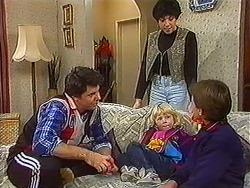 Joe Mangel, Kerry Bishop, Sky Mangel, Toby Mangel in Neighbours Episode 1231