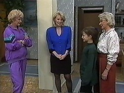 Madge Bishop, Rosemary Daniels, Tracey Dawson, Helen Daniels in Neighbours Episode 1232