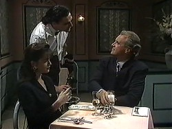 Caroline Alessi, Waiter, Jim Robinson in Neighbours Episode 1232