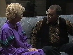 Madge Bishop, Harold Bishop in Neighbours Episode 1232