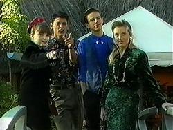 Cody Willis, Josh Anderson, Todd Landers, Melissa Jarrett in Neighbours Episode 1234