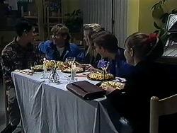 Josh Anderson, Ryan McLachlan, Melissa Jarrett, Todd Landers, Cody Willis in Neighbours Episode 1234
