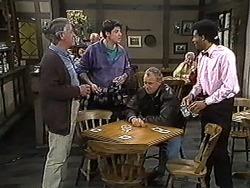 Clarrie McLachlan, Joe Mangel, Jim Robinson, Eddie Buckingham in Neighbours Episode 1235