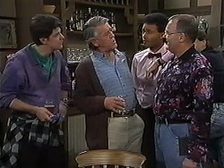 Joe Mangel, Clarrie McLachlan, Eddie Buckingham, Harold Bishop in Neighbours Episode 1235