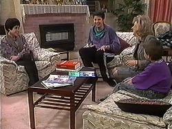 Kerry Bishop, Joe Mangel, Beverly Robinson, Toby Mangel in Neighbours Episode 1235