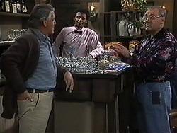 Clarrie McLachlan, Eddie Buckingham, Harold Bishop in Neighbours Episode 1235