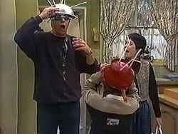 Joe Mangel, Toby Mangel, Kerry Bishop in Neighbours Episode 1236